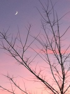 new moon sunset
